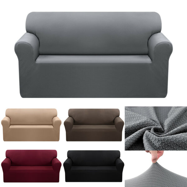1 2 3 4 Seater Waterproof Non Slip Slipcover Stretch Chair Sofa Cover Protector $17.96