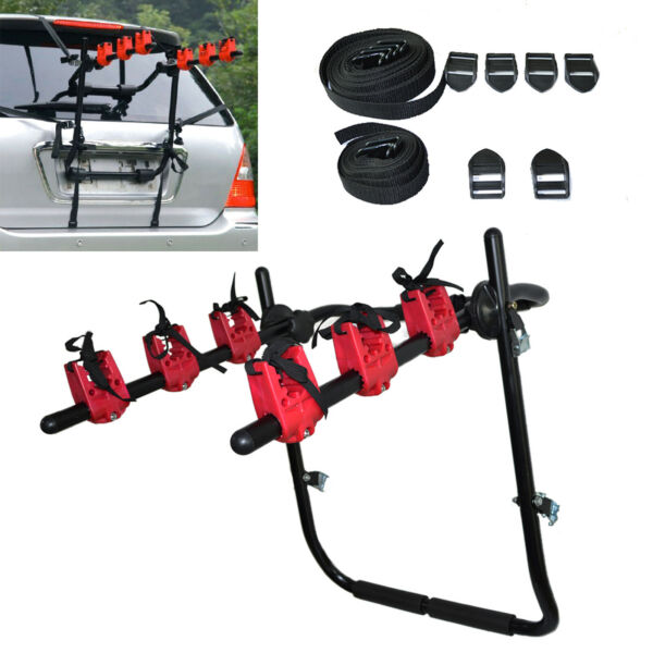 Bike Trunk Mount Bicycle Rack Holding 3 Bikes Bicycle Carrier for Car SUV Van US $44.00