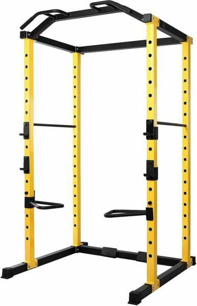 Power Cage Squat Rack Lat Pull 1000 lb Home Gym Dip Bars Body Weightlifting $451.70