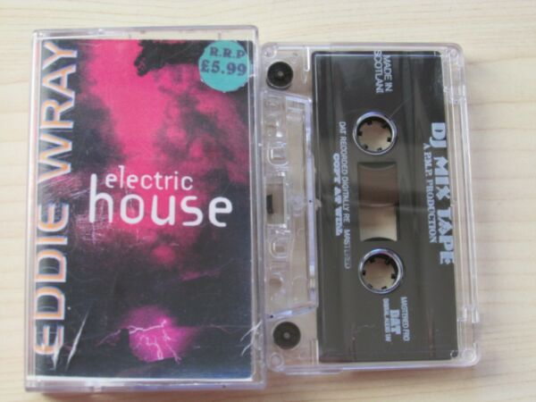 EDDIE WRAY ELECTRIC HOUSE 1990#x27;s CASSETTE MADE IN SCOTLAND BY P.M.P. PRODUCTION