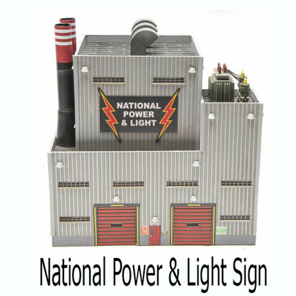 Electronic National Power amp; Light Sign Animated Lightning Effect on Building $139.95