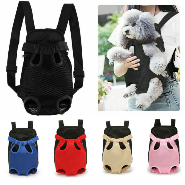 Pet Cat Dog Bag Mesh Breathable Backpack Puppy Travel Front Carrier Bag $9.75