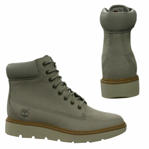 Timberland Kenniston 6 Inch Womens Grey Nubuck Lace Up Boots A1GY6 Z39B $117.99