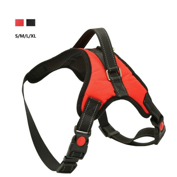 Dog Control Harness Strap No Pull Adjustable Reflective for Small Medium Dogs $7.98