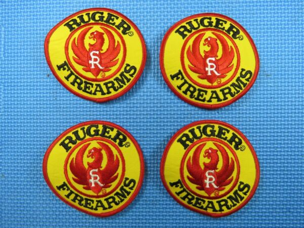 Vintage 4quot; Ruger Firearms Embroidered Patch four pack Hat Jacket Shirt