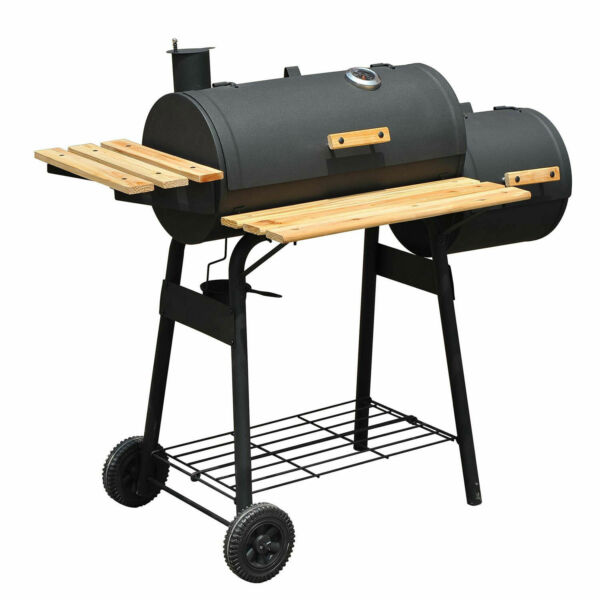 BBQ Grill Charcoal Barbecue Patio Backyard Home Meat Cooker Smoker Outsunny 48#x27;#x27;