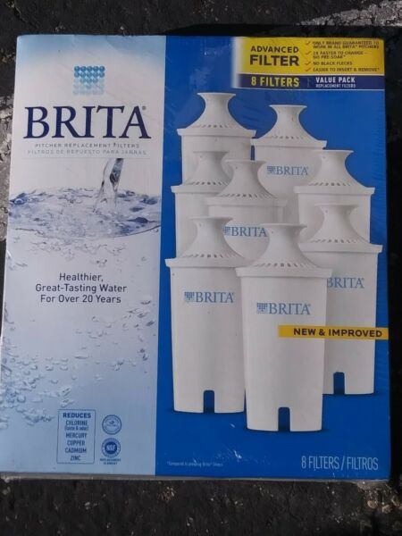 8 Advanced BRITA Filters Pitcher Replacement Filters *Sealed