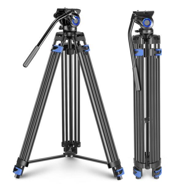 Neewer Professional Heavy Duty Video Tripod 76#x27;#x27; Aluminium Alloy Fluid Drag Head