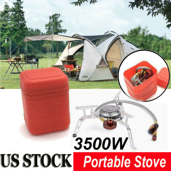 3500W Outdoor Camping Portable Stove Butane Propane Gas Burner Cooking Gas Stove