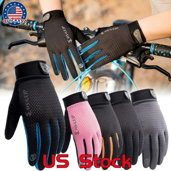 Bike Riding Full Finger Glove Racing Motorcycle Gloves Cycling Bicycle Outdoor $8.99