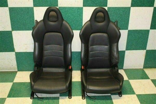 2000 2005 S2000 Pair Black Leather Driver Passenger Manual Track Bucket Seat Set