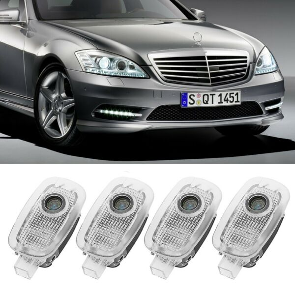 4Pcs LED Door Light LOGO Projector 3D Ghost Shadow Laser For Mercedes Benz S CL