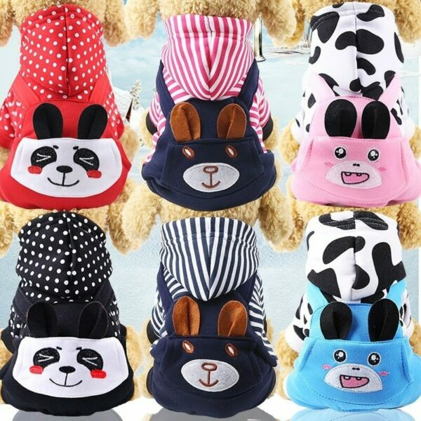 Winter Pet Dog Clothing Coat Cute Dogs Clothes Cotton Thicken Warm Dogs Clothing $4.63