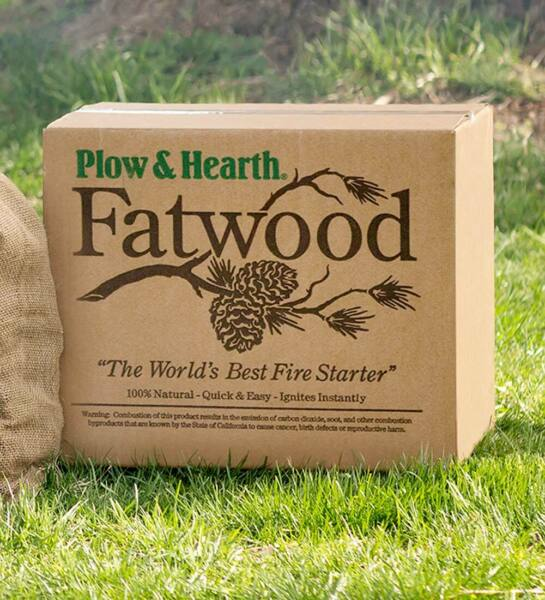 Plow amp; Hearth Fatwood fire starting sticks 50 lb. Box New In Box