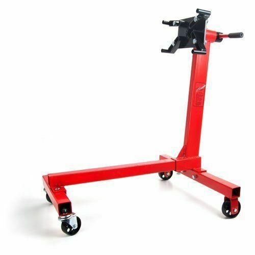 JEGS 360 Degree Head Motor Stand 80040 Red Engine Stand 1000 lbs Capacity