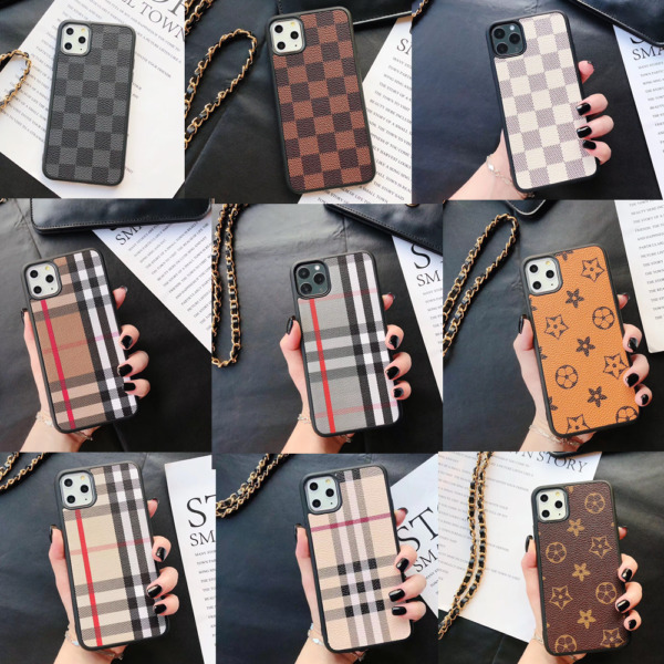 Luxury Plating Metal Leather Plaid PU Cover Case For iPhone 12 Pro Max 11 XR 7 8 $11.99