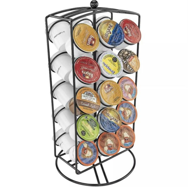 Keurig Cup CHROME Carousel K Cup Holder 30 Pods Storage Solution Coffee