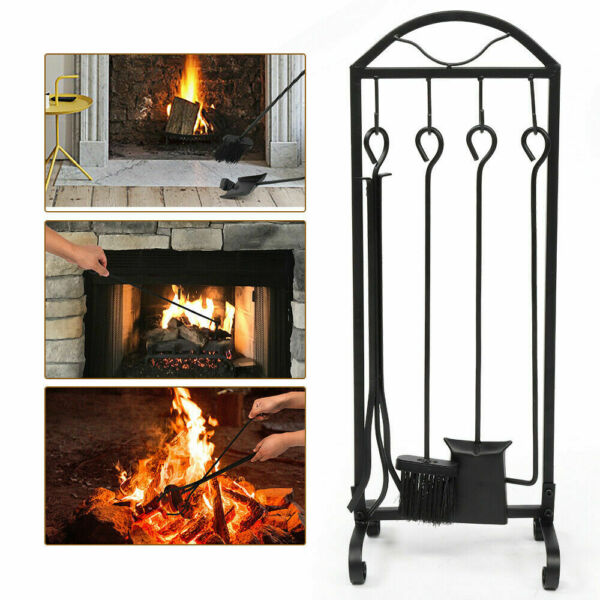 NEW Fireplace Tool Set 5 in 1 Assembly Foot