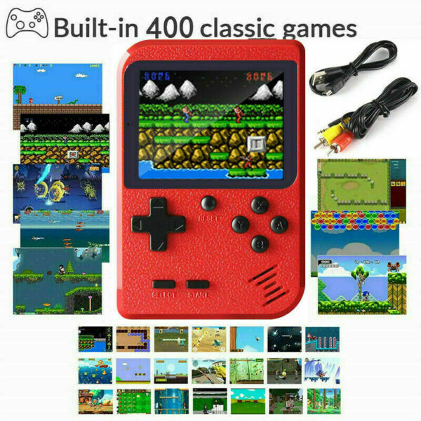 Mini Retro Handheld Box Game Console Built in 400 Classic Games Boys Gift USA $12.99