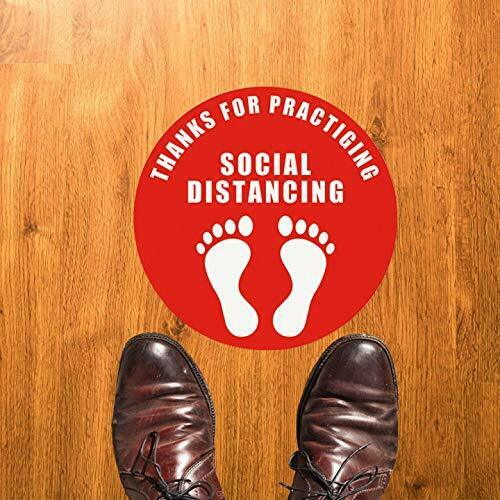 Social Distancing Floor Decal Stickers 20 Pack 7#x27;#x27; Stand Decal
