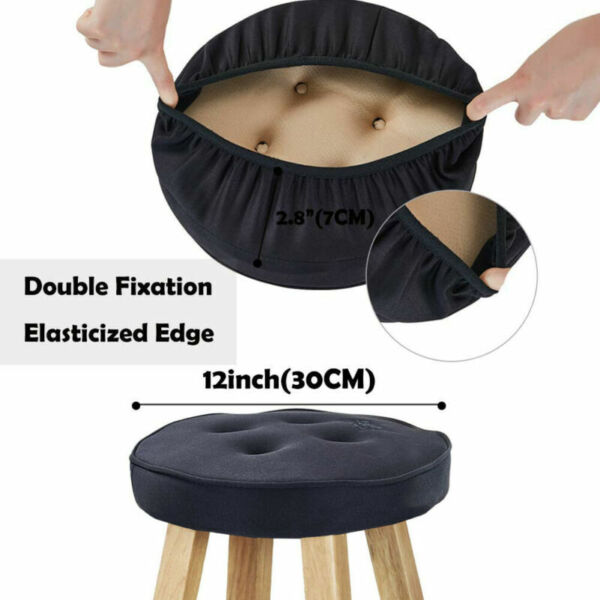Bar Stool Cushion Bar Stool Round Covers with Non Slip Backing and Elastic Band $12.59