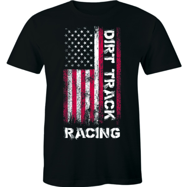 Dirt Track Racing Funny Vintage Short Sleeve Men#x27;s Women#x27;s T Shirts Gifts $19.90