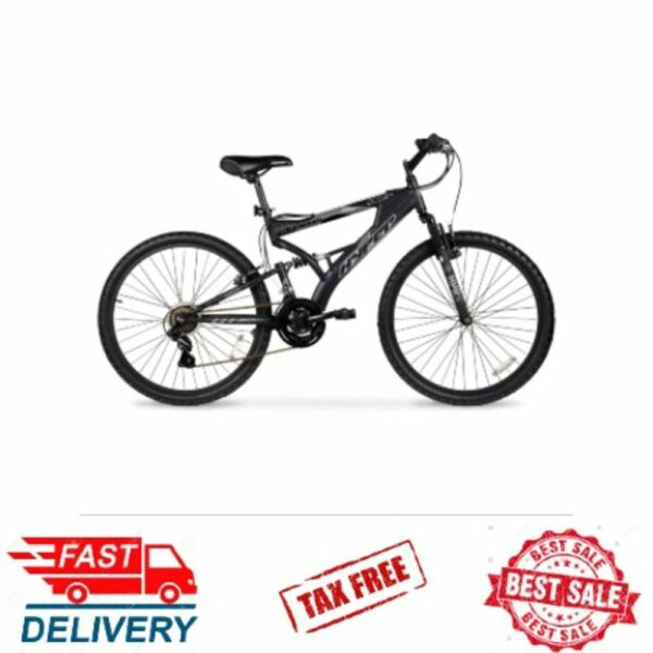 Hyper 24quot; Dual Suspension Mountain Frame Boys Bike 21 Speed Outdoor Mens Bicycle $152.44