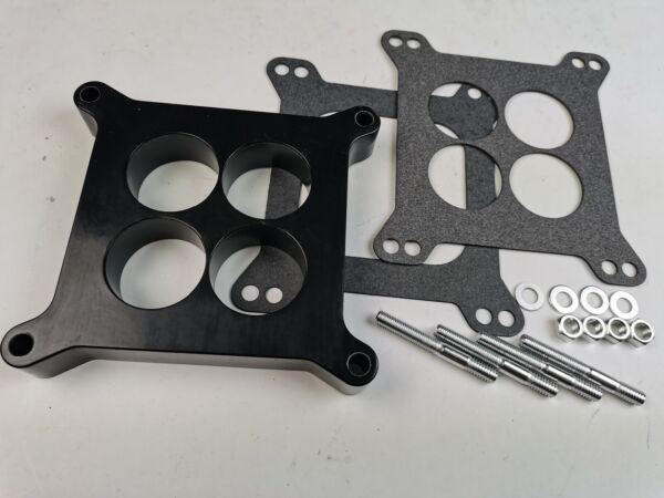 1quot; Ported Phenolic Carburetor Spacer 4bbl Fits Holley SB Chevy Ford SBC BBC BB $20.99