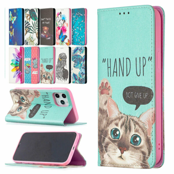 For iPhone 12 Mini 11 Pro Max SE2 Rugged Leather Stand Wallet Phone Case Cover $9.39
