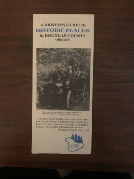 Drivers Guide To Historic Placed Douglas County Oregon Map