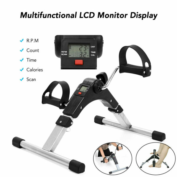 Folding Exercise Bike Stationary Indoor Cycling Cardio Gym Workout w LCD Monitor $29.96