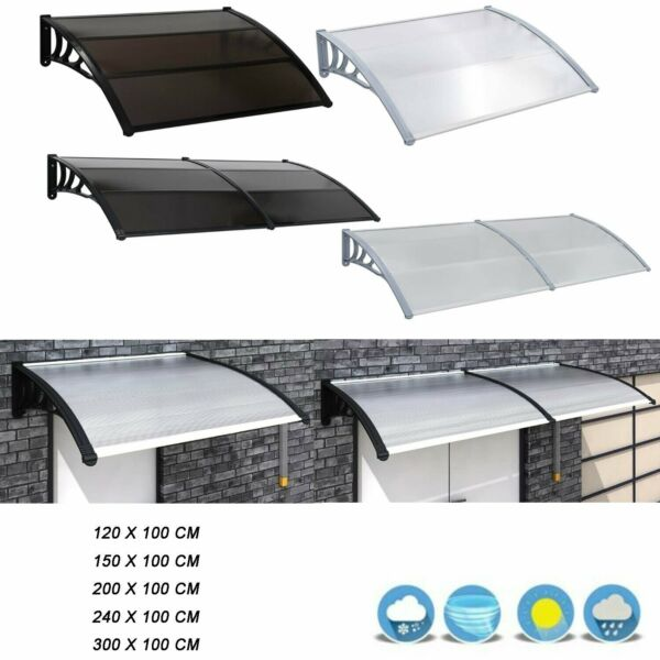 Outdoor Door Canopy Awning Shelter Front Back Porch Shade Patio Roof Rain Cover