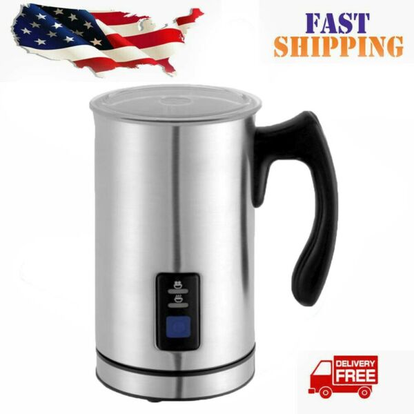 USA Electric Automatic Milk Frother Heater Cappuccino Maker Milk Warming Kettle $28.11