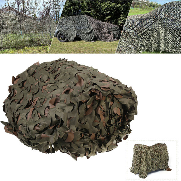 16X8 FT Woodland Shooting Hide Army Camouflage Net Hunting Cover Camo Netting US