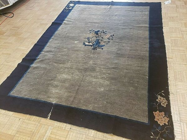 6x9 CHINESE RUG ANTIQUE 1900 1910 ART DECO AUTHENTIC 100% WOOL ORIENTAL RUG