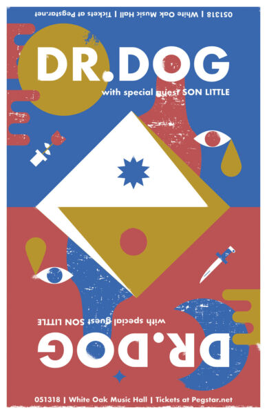 DR. DOG SON LITTLE 2018 HOUSTON CONCERT TOUR POSTER Psychedelic Indie Rock Music $14.31