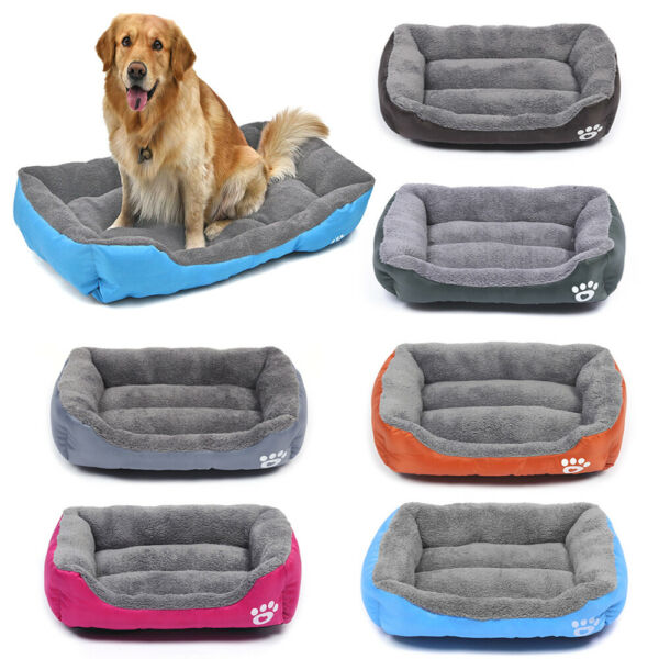 Pet Dog Cat Bed Soft Warm Kennel Mat Pad Blanket Puppy Cushion Washable 6 Sizes $12.90