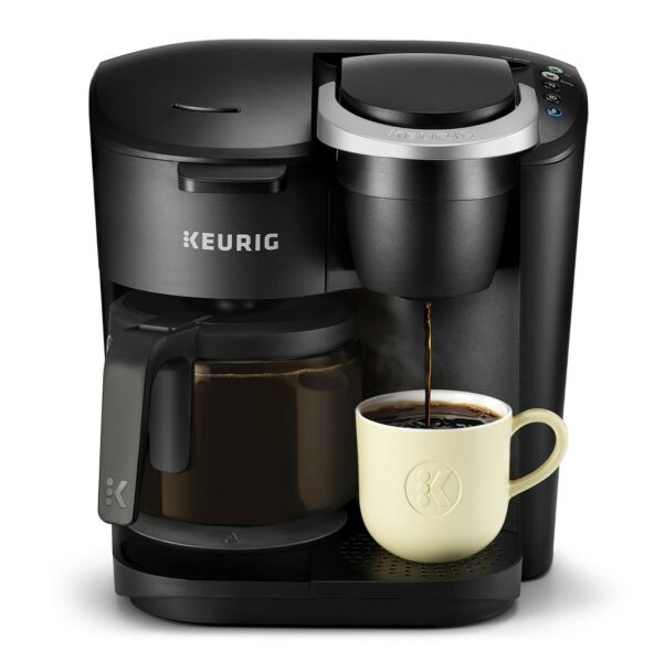 Keurig K Duo Essentials Coffee Maker with Single Serve K Cup Pod and 12 Black