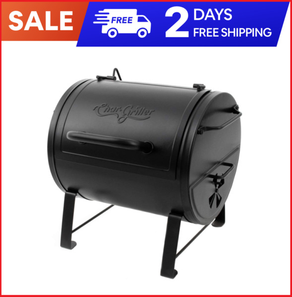 NEW Char Griller E82424 Side Fire Box Charcoal Grill Black