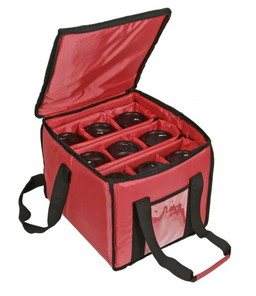 Insulated Drink Food Delivery Bag Carrier Heavy Duty Hot Cold Beverage Car Bike $49.01