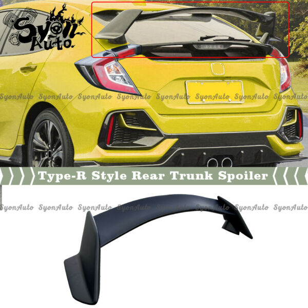 FITS 2017 2021 HONDA CIVIC HATCHBACK FK4 FK7 TYPE R STYLE TRUNK SPOILER WING KIT