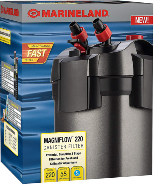 Marineland Magniflow Canister 220 for Aquarium Up to 55 Gallons Freeshipping $68.96