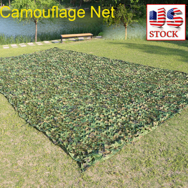 NEW 5x23FT Woodland Camouflage Camo Army Net Netting Camping Military Hunting