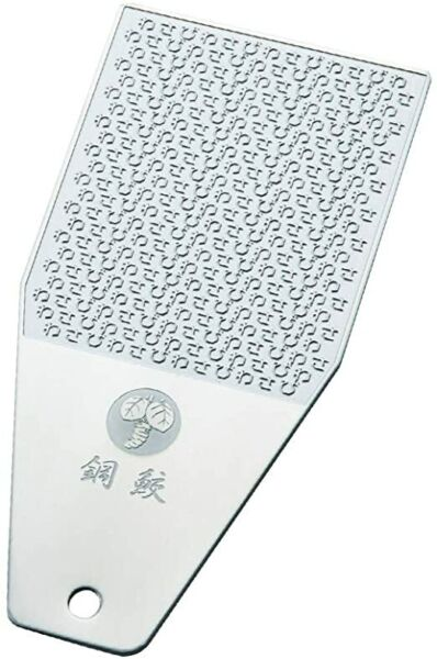 WASABI Stainless Grater Haganezame Small Wasabi Letters Design Japan Cooking