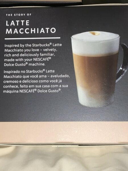 One Case STARBUCKS Latte Macchiato by Nescafe Dolce Gusto Coffee Capsules 7 20