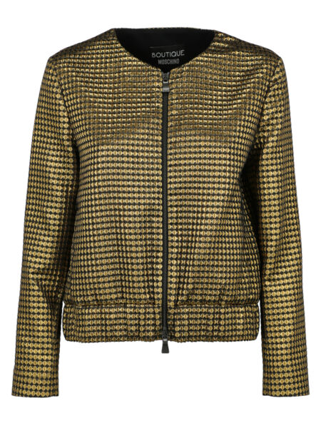 Boutique Moschino Special Price Women Jackets Black Gold IT 40 $266.00