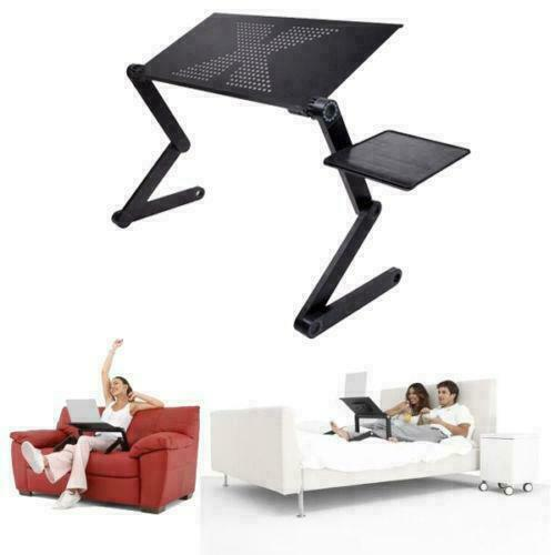 360°Adjustable Foldable Laptop Notebook PC Desk Table Vented Sofa Tray Stand Bed