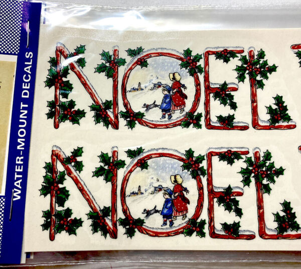 Ceramic Decals quot;NOELquot; Christmas Winter Scene Holiday Water Mount Lot of 36 $12.95