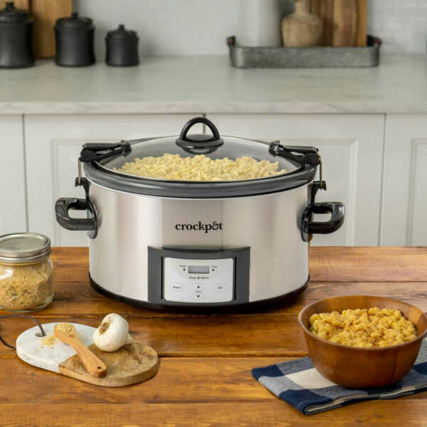 7 Quart CrockPot Slow Cooker Cook amp; Carry Digital Countdown Programmable