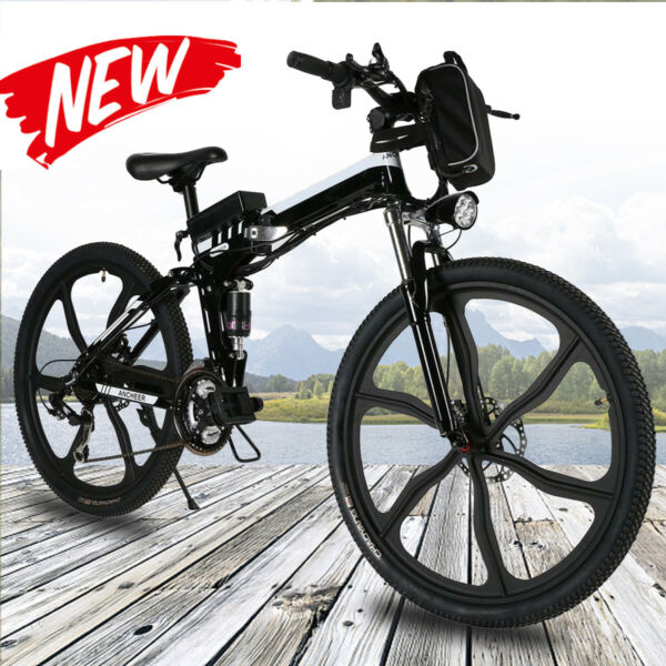 VIVI 26quot; Folding Electric Bike Mountain Bicycle City Ebike Shimano 21Speed 350W $709.99